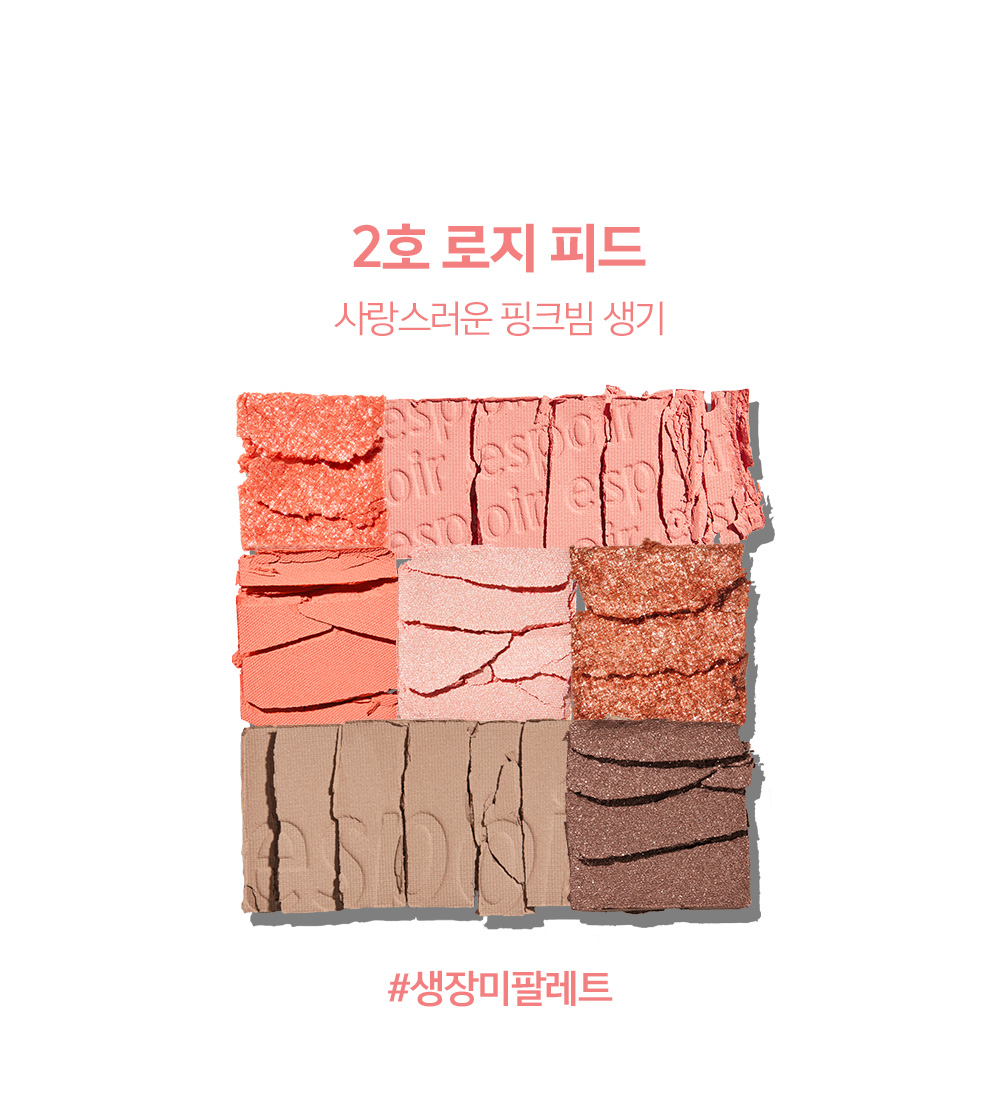 COLOR CHART - 2호 로지 피드 : 사랑스러운 핑크빔 생기 #생장미팔레트
